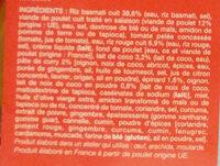 Poulet Au Curry Et Au Lait De Coco, Duo De Riz Picard - Ingrédients