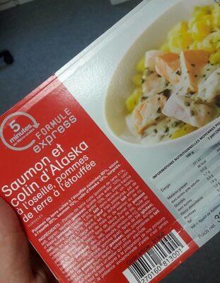 Saumon et colin d'Alaska - Voedingswaarden - fr