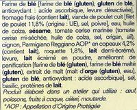 Bagel Poulet, Parmesan, Roquette - Ingrédients - fr