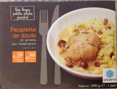 Paupiette de dinde et polenta aux champignons surgelées - Produit - fr