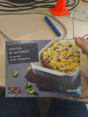 Gratin de ravioles au poulet et aux champignons - Produit - fr