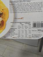 Poulet sauce citron vert et coriandre, purée de patate douce - Información nutricional - fr