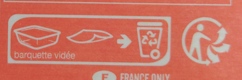 Poulet sauce citron vert et coriandre, purée de patate douce - Instruction de recyclage et/ou informations d'emballage - fr