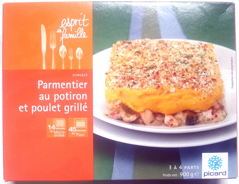 Parmentier au potiron et poulet grillé - Surgelé - Produit