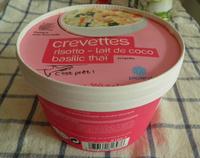 Crevettes risotto-lait de coco-basilic thaï, surgelés - Produit - fr