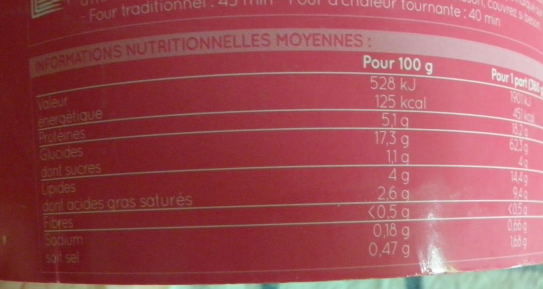 Crevettes risotto-lait de coco-basilic thaï, surgelés - Informations nutritionnelles - fr