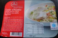 Colin d'Alaska, sauce beurre citron et risotto aux petits légumes, surgelés - Product