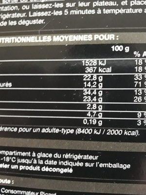 16 Mignardises Création - Ingrediënten - fr