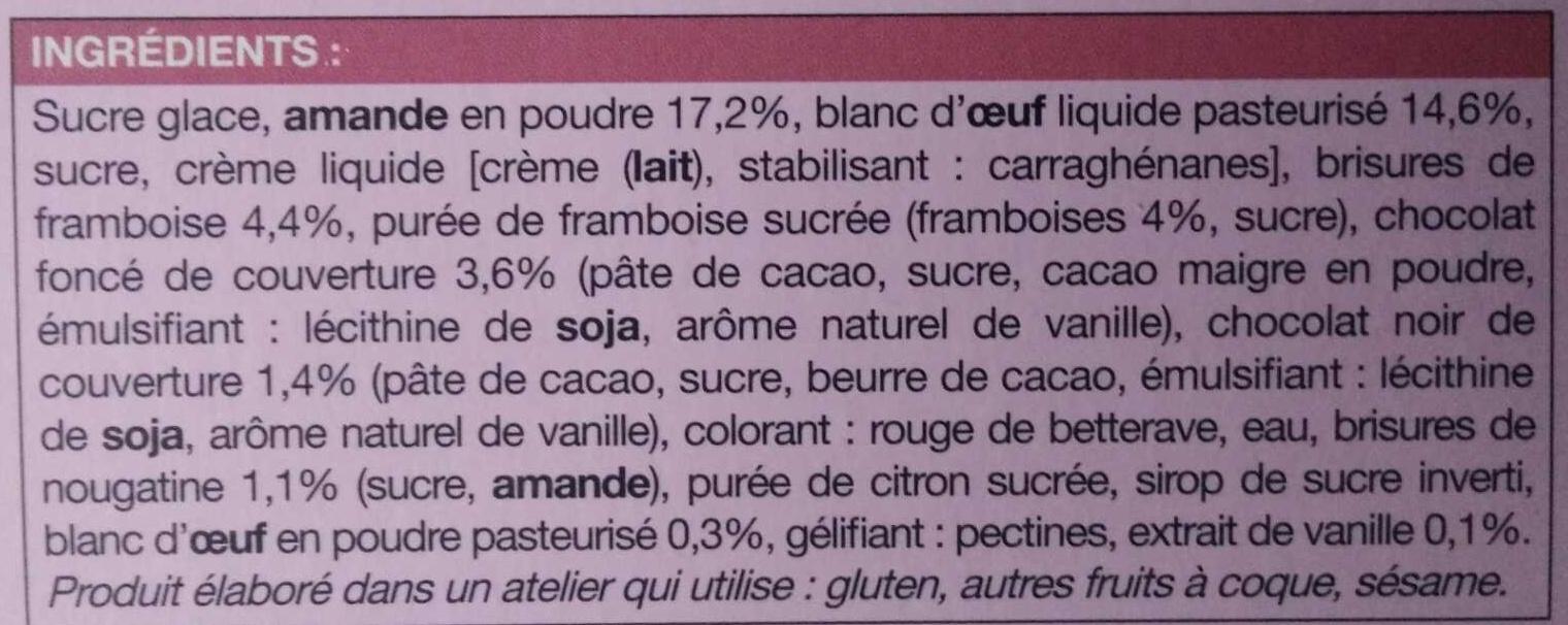 8 Cœurs Macarons - Ingrédients - fr