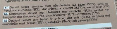 Galettes Rois Chocolat - Ingrédients - fr