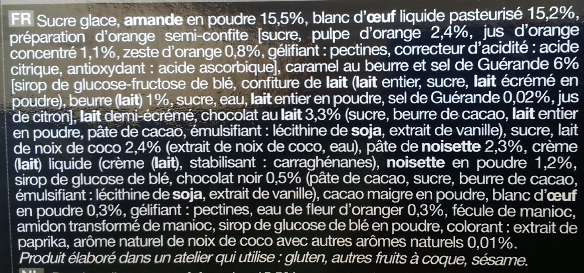 Mini macarons - Ingredients