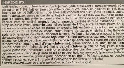Bûche glacée chocolat - Ingredients