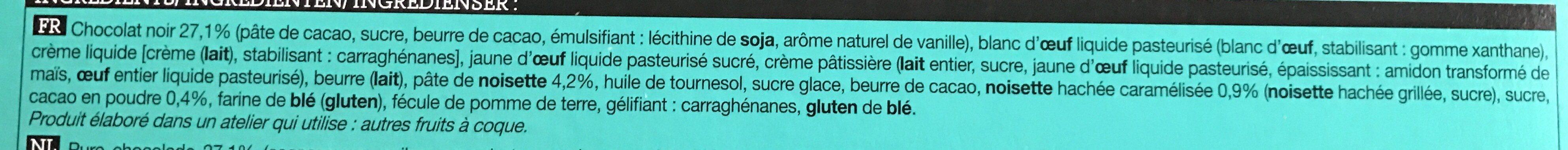 Petits Lapins de Pâques Chocolat-Noisette - Ingrédients - fr