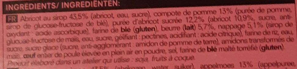 Tartelette abricot - Ingredients - fr