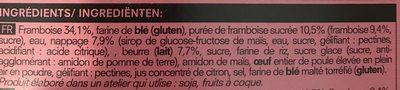 Tartelette Framboise - Ingredients