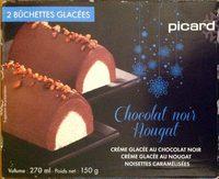 Chocolat noir nougat Crème glacée au chocolat noir Crème glacée au nougat noisettes caramélisées - Produit - fr