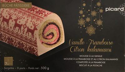 Bûche Pâtissière Vanille - Framboise et Citron kalamansi - Product