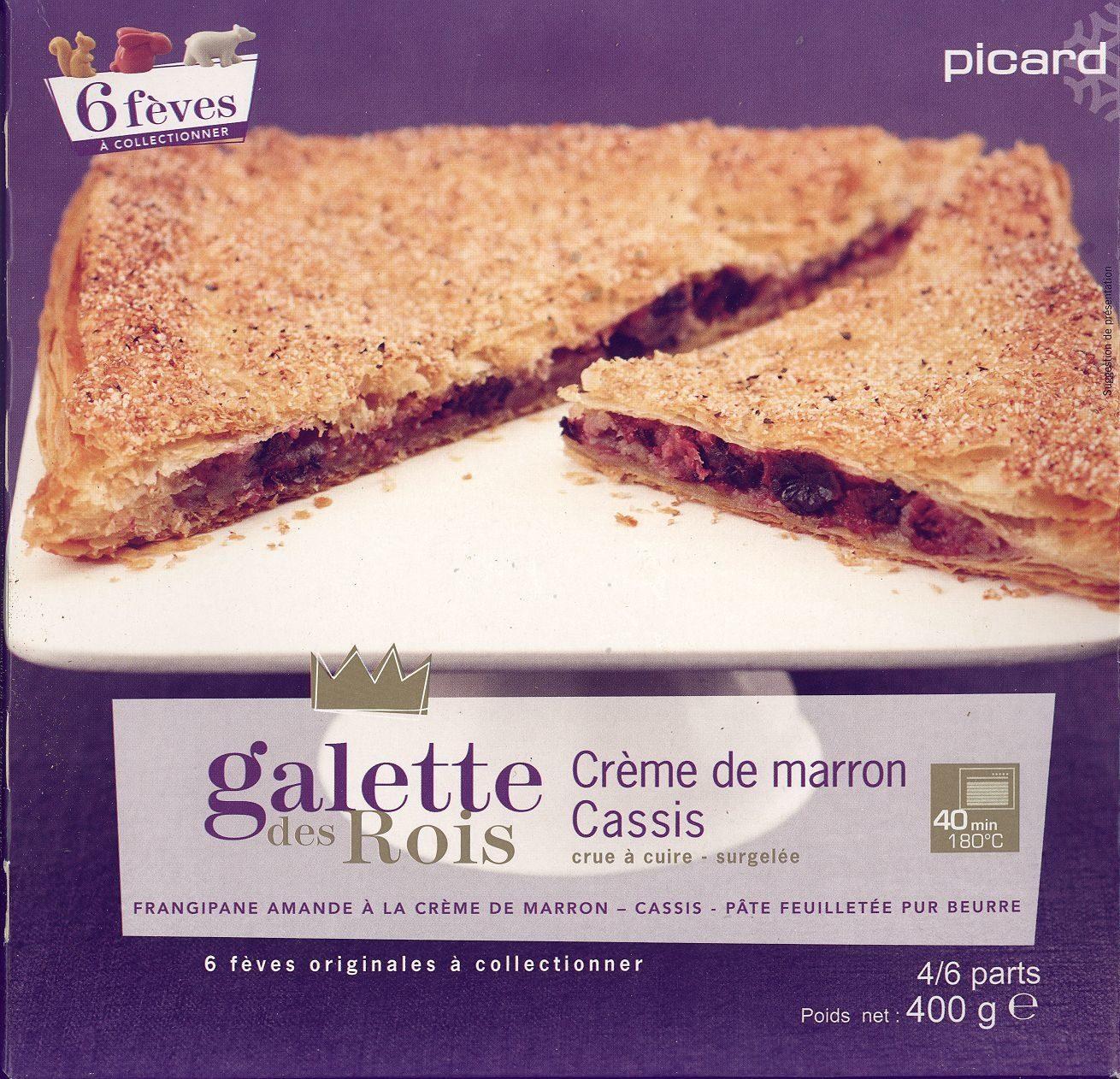 Galette des rois crème de marron cassis - Produit