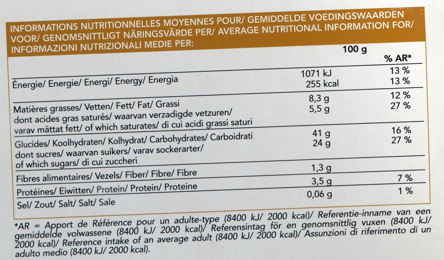 Tarte à la Normande - Voedingswaarden - fr