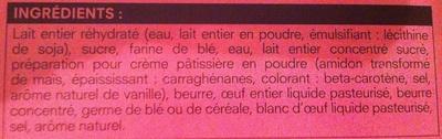 Flan Pâtissier Surgelé - Ingrediënten