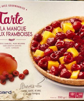 Tarte à la mangue et aux framboises - Product - fr