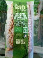 Deux petites baguettes de campagne - Produit - fr