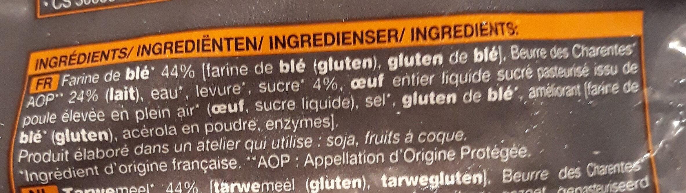 Croissant - Ingrédients