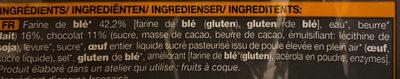 Pain aux chocolat pur beurre - Ingrédients - fr