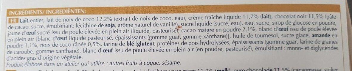 2 buchettes glacées - Ingredients