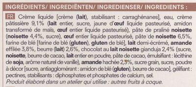 2 Éclairs Façon Paris-Brest - Ingredients