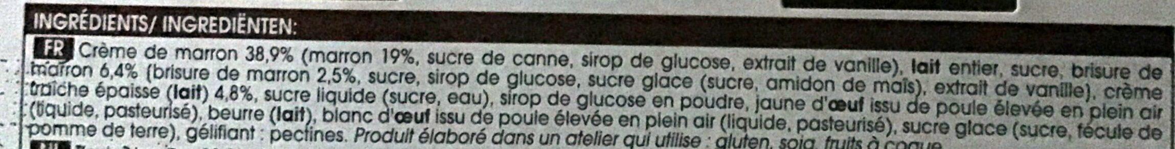 Creme glacee de marron - Ingrédients - fr