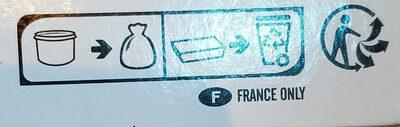 Creme glacee de marron - Instruction de recyclage et/ou informations d'emballage - fr