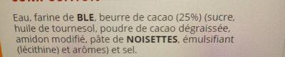 Mini Churros fourré cacao noisette - Ingrédients - fr