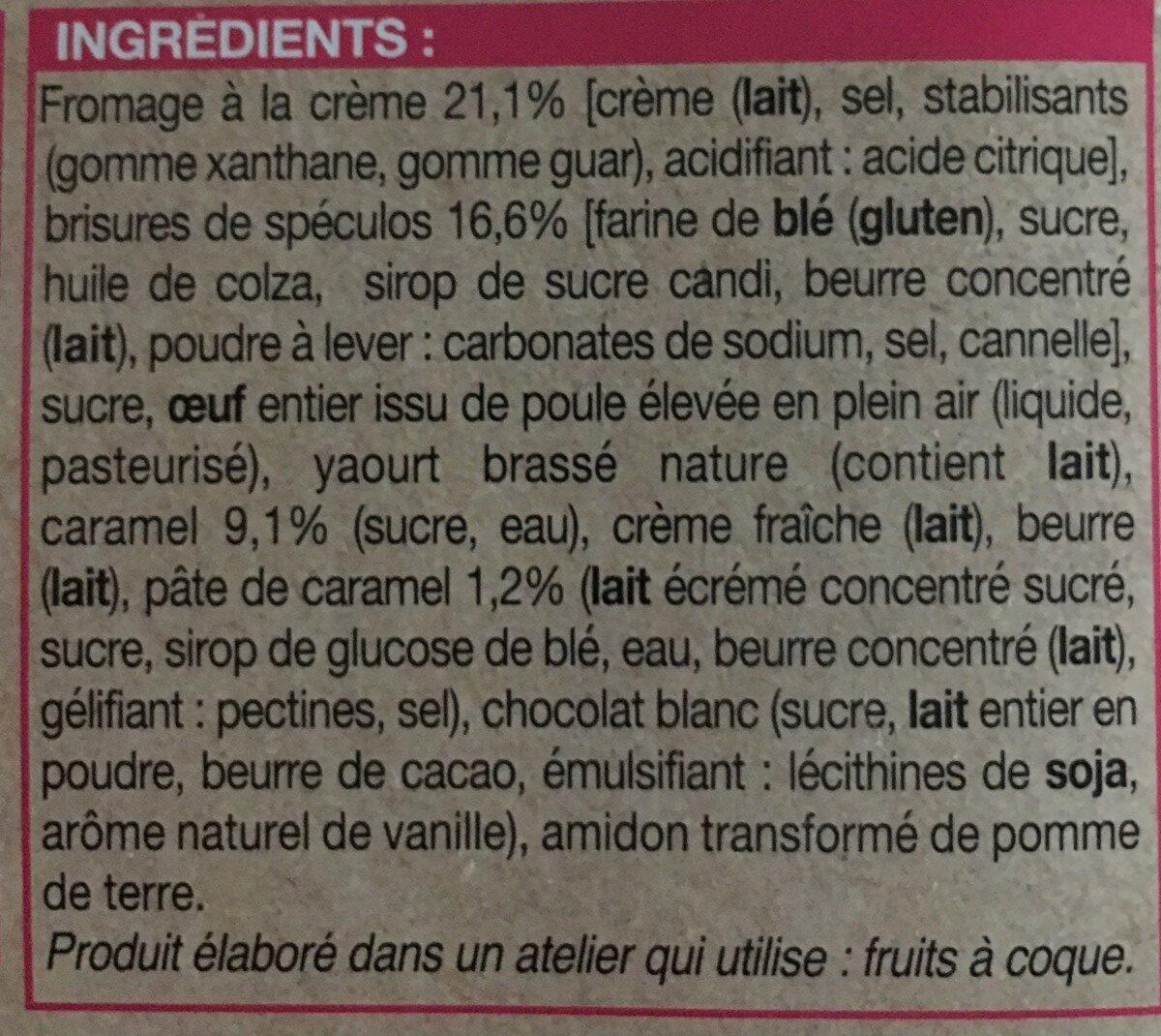 Cheesecake au caramel - Ingredients