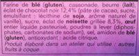 2 Cookies au Chocolat et à la Noisette - Ingrediënten - fr