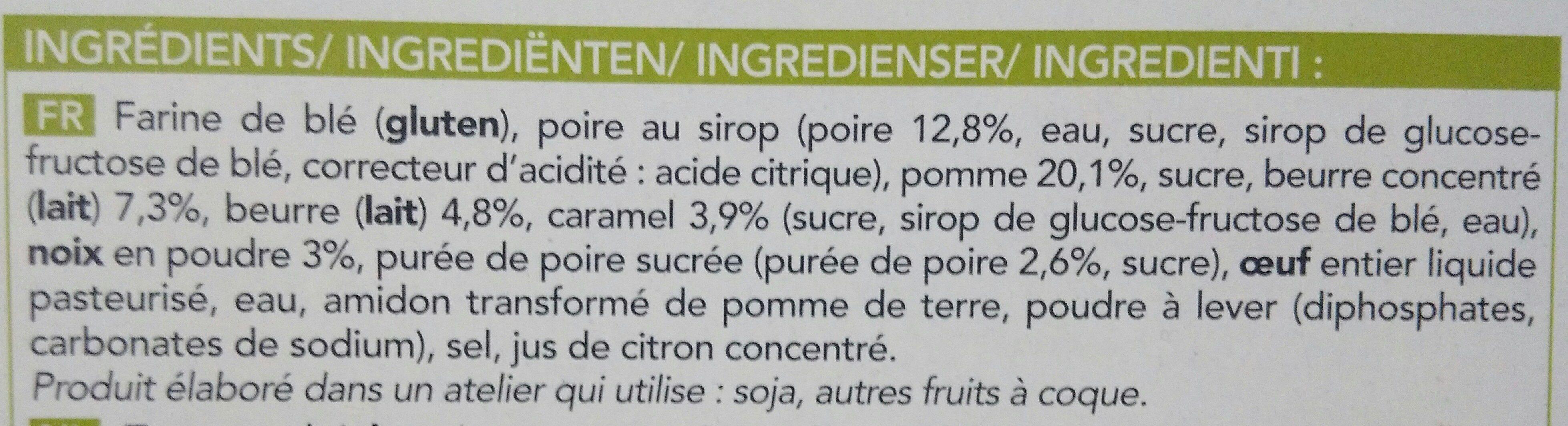 Tarte Façon Crumble à la Poire et à la Pomme - Ingrediënten - fr