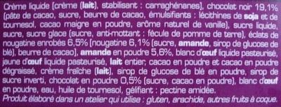 2 Cœurs Chocolat - Ingredients - fr
