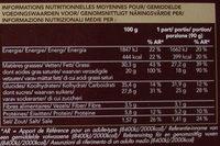 Moelleux Chocolat et Chocolat Blanc - Informations nutritionnelles