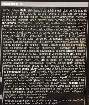 6 Amuse-bouches apéritifs - Ingredients - fr