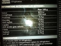 6 Amuse-bouches apéritifs - Nutrition facts - fr