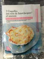 2 Coquilles aux Noix de Saint-Jacques* et Saumon, Fondue de Poireaux, Sauce Citronnée - Product