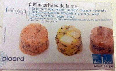 6 mini-tartares de la mer - Produit - fr