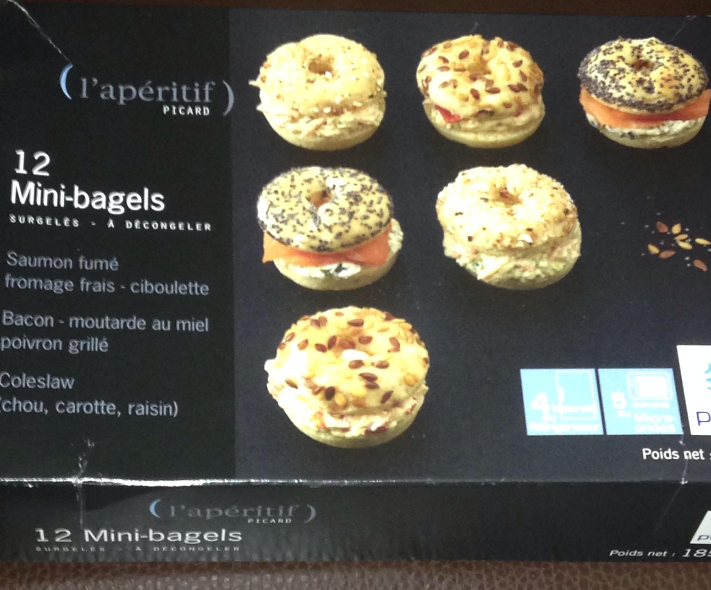 12 Mini-bagels - surgelés 185 g - Product