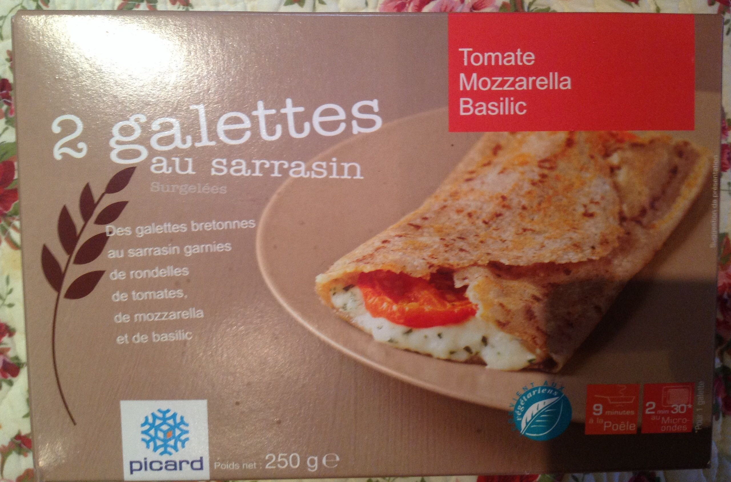 2 galettes au sarrasin tomates mozzarella basilic - Product