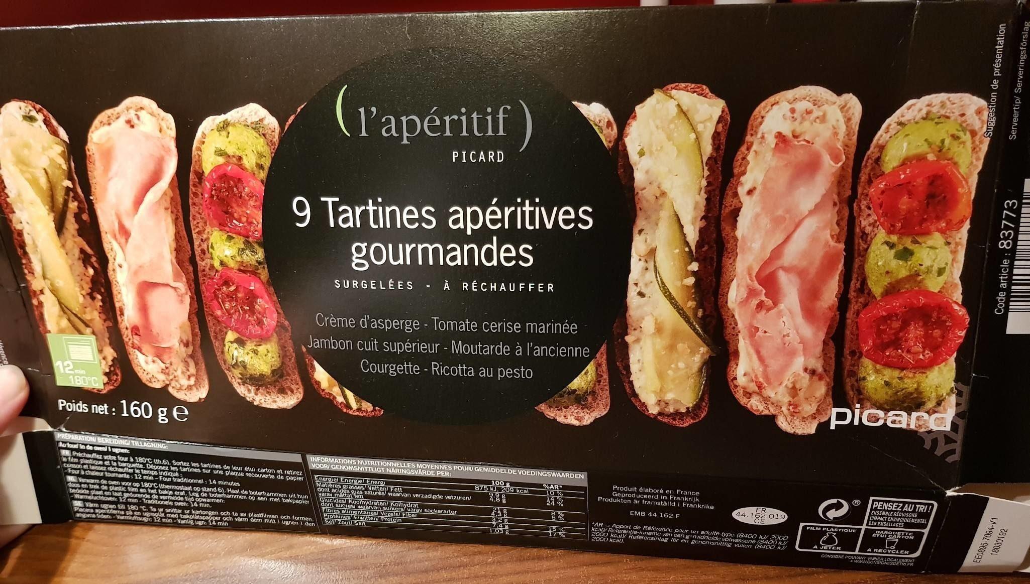 9 tartines apéritives gourmandes - Product