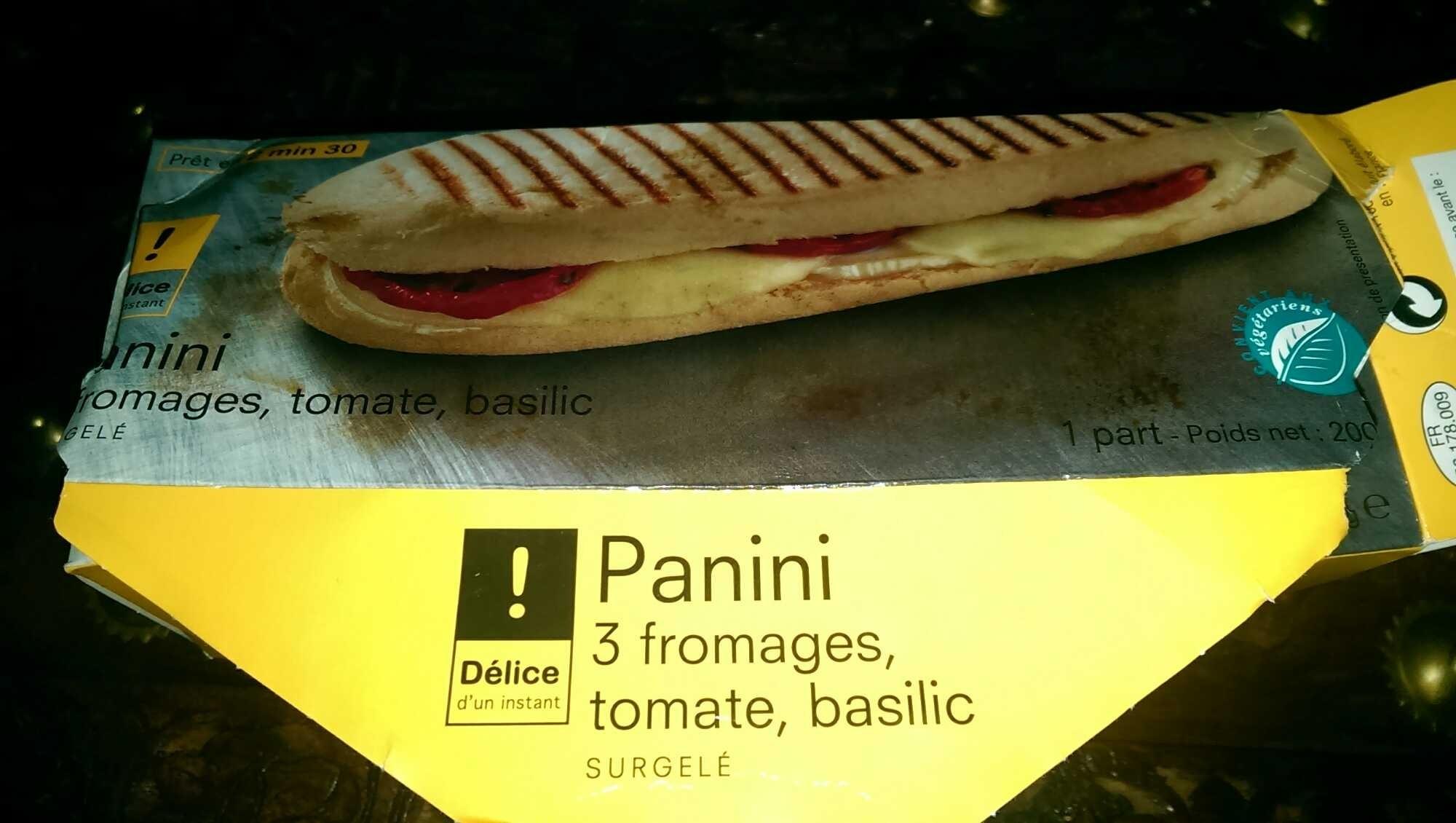 Panini 3 fromages, tomate, basilic - Produit