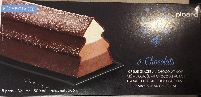 b che 3 chocolats picard 505 g 800 ml. Black Bedroom Furniture Sets. Home Design Ideas
