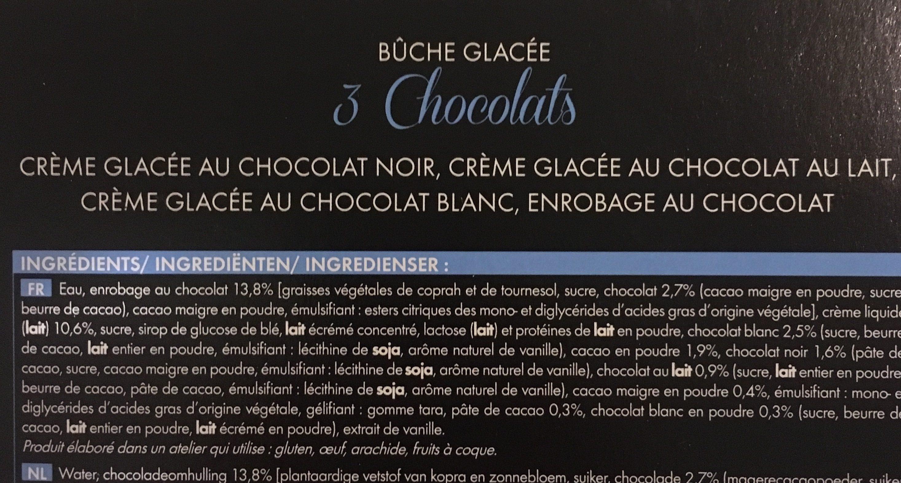 Bûche 3 Chocolats - Ingrédients - fr