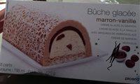 Bûche glacée marron-vanille - Produto - fr