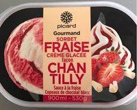 Sorbet fraise, crème glacée façon chantilly - Product